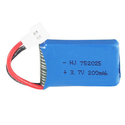 AU15.45 • Buy 3.7V 200mAh 20C 752025 LiPo Rechargeable Battery For Quadcopter Drone 51005 Plug