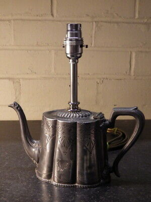 VICTORIAN Upcycled Decorative Antique Metal TEAPOT LIGHT (Lamp) • 45£