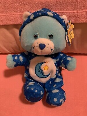 Care Bears 8  PJ Party Special Edition Blue Bedtime Bear RARE COLLECTIBLE W/ Tag • 26.26£