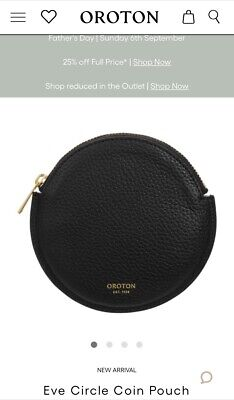 AU39 • Buy Oroton Eve Circle Coin Pouch In Black