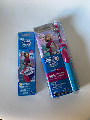 AU34.95 • Buy Oral B Vitality Power Electric Toothbrush Kids/ Girl Frozen +2 Replacement Heads