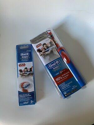 AU37.95 • Buy Oral B Vitality Power Electric Toothbrush Kids/Boys Star Wars+2Replacement Heads