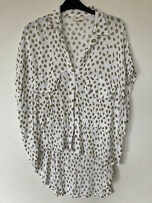 AU30 • Buy Zulu And Zephyr Oversize Leopard Dot Shirt 8 Blouse