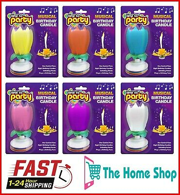 $ CDN9.50 • Buy Musical Birthday Candle Magic Lotus Flower Romantic Party Cake Topper