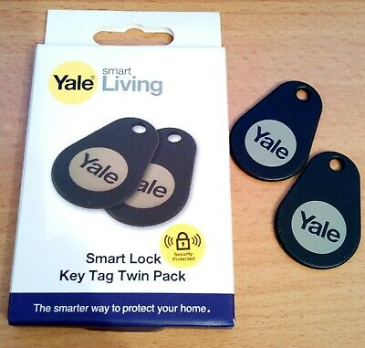 Yale Smart Living Key Tags (Twin Pack) - Black • 7.25£