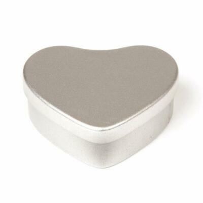 Empty Tins Candle Sweets  Creams HEART SHAPED  X 6 Tin Plate 20ml New Uk • 6£