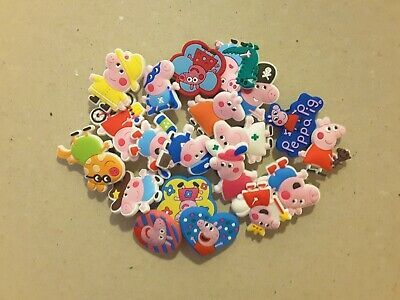 20pcs 2D PVC Shoe Charms Peppa Pig Similar To Jibbitz Fits Crocs • 1.99£