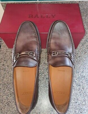 £160 • Buy Bally Coffee Simpler Leather Mens Shoe 10.5