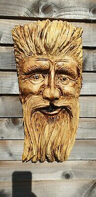 Chainsaw Carved Green Man / Wood Spirit • 65£
