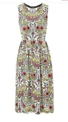Topshop Floral Tie Side Midi Dress Size 16 • 14£
