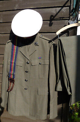 Vintage 1980s British Army Royal Marines Lovat Uniform Hat Trousers Jacket  • 95£