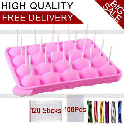 £10.89 • Buy Silicone Lolly Pop Mould Cake Mold Chocolate Jelly Candy For Kid With 120Sticks