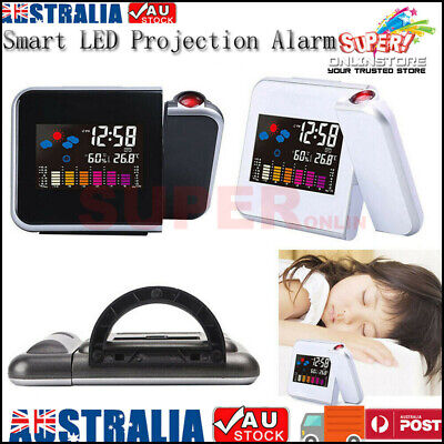 AU16.90 • Buy Smart Digital LED Projection Alarm Clock Time Temperature Projector LCD Display