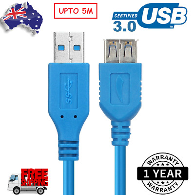 AU9.99 • Buy USB 3.0 Male To Female Data Cable Extension Cord For Laptop PC Camera Cable AU