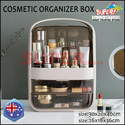 AU37.88 • Buy Portable Cosmetic Storage Organizer Box Dust Proof Makeup Jewelry Case Drawer