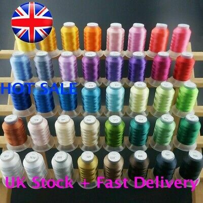 Brothread DIY 40 Colours Polyester Sewing & Embroidery Machine Thread -500M Each • 24.59£