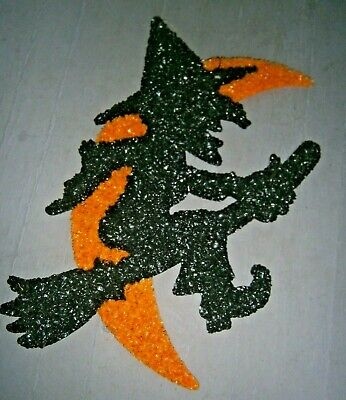 $ CDN40.27 • Buy VTG Melted Plastic POPCORN Decoration HALLOWEEN WITCH WITH MOON SILHOUETTE