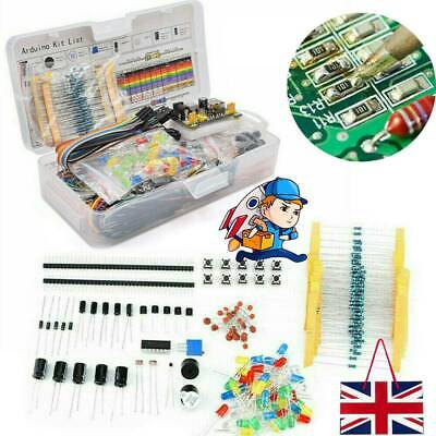 Wires Breadboard LED Buzzer Resistor Transistor Electronic Component Starter Kit • 15.45£