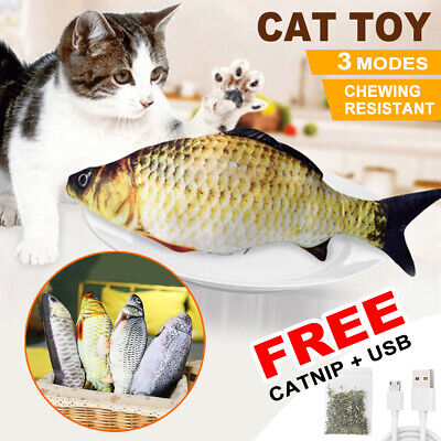 AU11.75 • Buy Electric Dancing Fish Kicker Cat Toy Wagging Realistic Moves USB Rechargeable