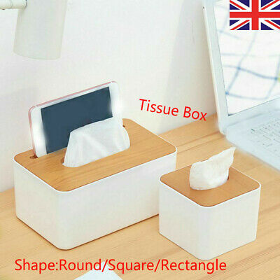 1pcs Tissue Box Plastic Napkins Case Paper Storage Box Bedroom Home Reception UK • 4.95£