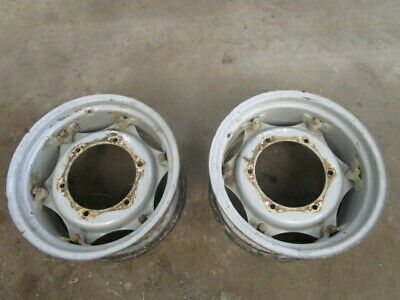 For, Massey Ferguson 3060 4wd Front Wheels Rims & Centres In Good Condition • 480£