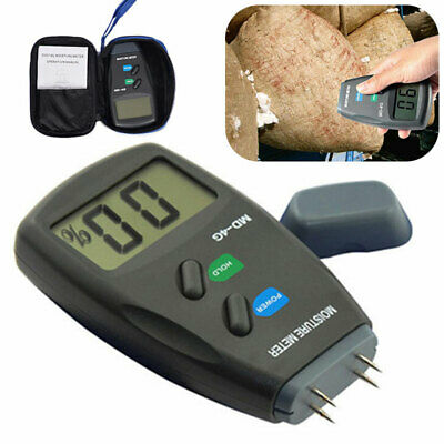 4-Pin Digital Moisture Meter Damp Detector Timber Wood Tester Plaster Sensor Hot • 10.28£