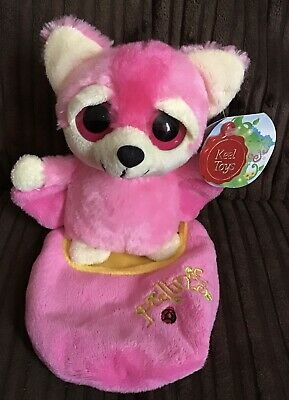 """Keel Toys Podlings """"Blossom"""" Pink Bat Flying Fox Soft Plush Toy 6"""" Tags • 4.99£"""