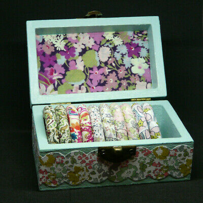 8 Liberty Print Napkin Rings & Wooden Butterfly Chest Combined P&P Offer • 9.50£
