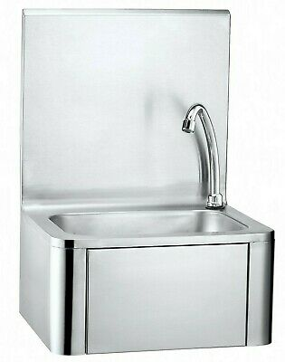 Commercial Kitchen Knee Operated Stainless Steel Hand Wash Sink Hands Free Basin • 139£