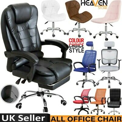 Adjustable Executive Office Desks Chair Ergonomic Computer Cushioned High Chair • 84.89£