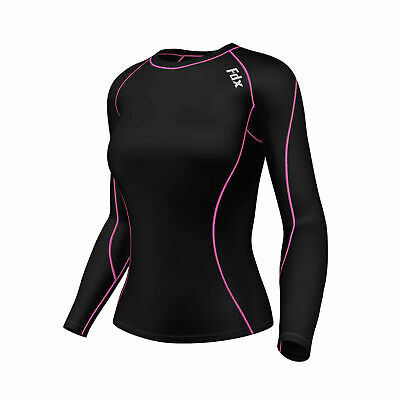 FDX Women's Compression Top Long Sleeve Base Layer  Running Gym Training Top  • 9.90£