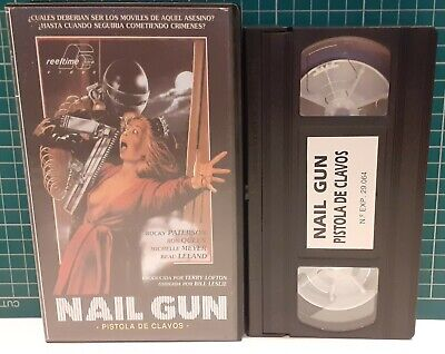 Nail Gun Massacre / Pre Cert Nasty Interest / Pal Vhs / Spanish • 39.99£