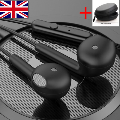 In Ear Earphone Headphone With Mic 3.5mm Jack For Samsung Sony IPhone Huawei HTC • 5.99£
