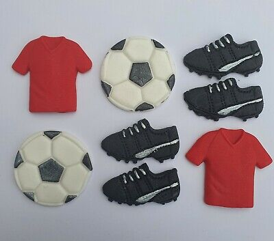 8 Football Themed Edible Birthday Cupcake Toppers Liverpool .Man Utd  • 5.75£
