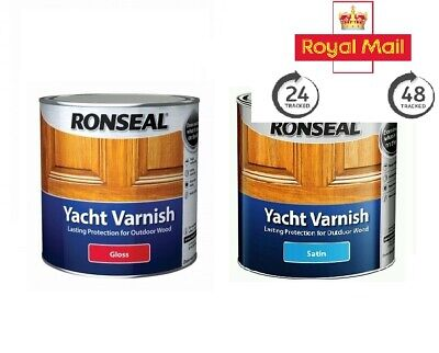 Ronseal Yacht Varnish Exterior Outdoor Paint Long Lasting - ALL SIZES • 24.99£
