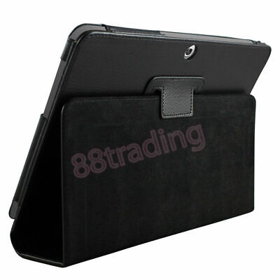 £5.98 • Buy BLACK FLIP LEATHER CASE COVER For SAMSUNG GALAXY TAB 2 10.1 P5100 P5110 + 2 FILM