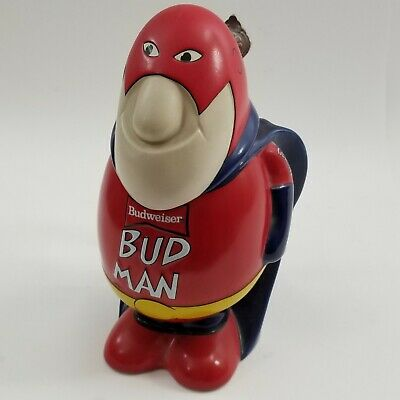 $ CDN60.49 • Buy Vintage Lidded Bud Man Beer Stein Mug Budweiser Ceramic Advertising