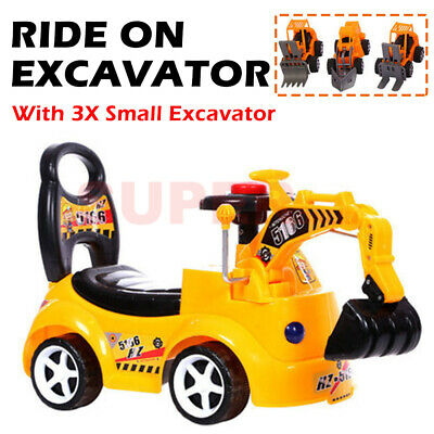 AU37.99 • Buy Kids Ride-On Car Digger Toy Excavator Tractor Pretend Play Toy Children Outdoor