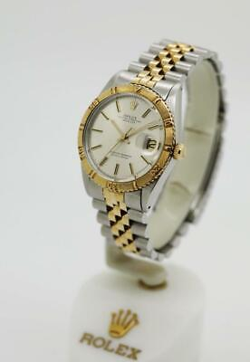 $ CDN6482.51 • Buy Vintage Men's Rolex Datejust Thunderbird Ref: 1625 36mm Silver Stick 2Tone #W20