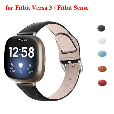 $ CDN10.46 • Buy Replacement For Fitbit Versa 3 / Fitbit Sense Leather Watch Band Bracelet Strap