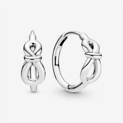 AU69.95 • Buy Authentic Pandora Silver Earrings Infinity Knot Hoops #298889c00