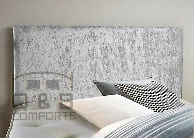 Plain Crushed Velvet Headboard  3ft 4ft 4ft6 5ft  • 33.99£