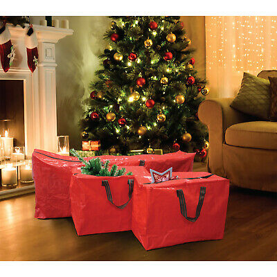 3pcs Premium Strong Durable Large Christmas Xmas Tree Decorations Storage Bags • 9.95£
