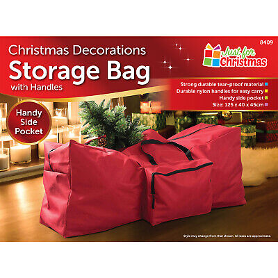 New Christmas Xmas Storage Zip Bag For Tree, Decorations & Lights - With Handles • 7.95£