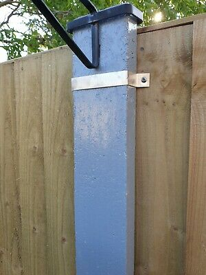 £6 • Buy 5 Fence Post Clamps Security Bracket Anti Rattle Fence Panel Security Free Post