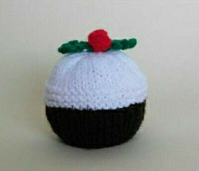 2 Hand Knitted Christmas Pudding Chocolate Orange Or Bath Bomb Cover. • 5£