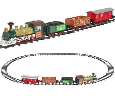 Classic Battery Operated Train Set With Tracks Light Engine Children Kids Toy • 11.99£