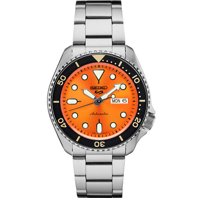 $ CDN288.27 • Buy  Seiko 5 Orange Dial SRPD59 Automatic Stainless Steel Watch
