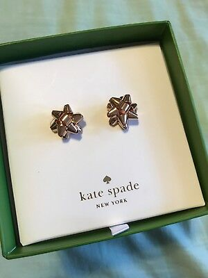 $ CDN47.99 • Buy Kate Spade New York Bourgeois Bow Rose Gold Stud Earrings New In Bow