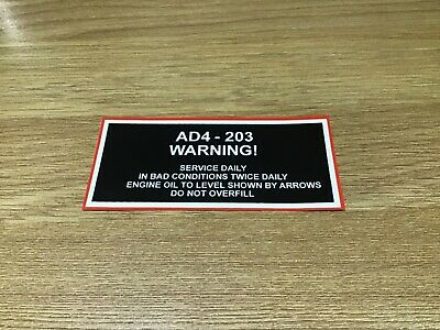 £6.50 • Buy Massey Ferguson 165 Tractor Warning Service Daily Decal